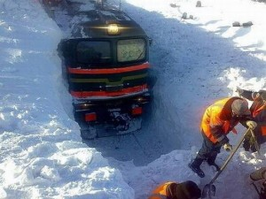 Очистка жд пути от снега