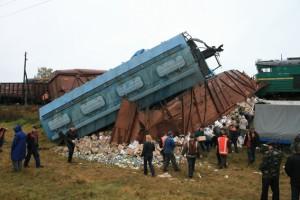 Опрокидывание грузовых вагонов
