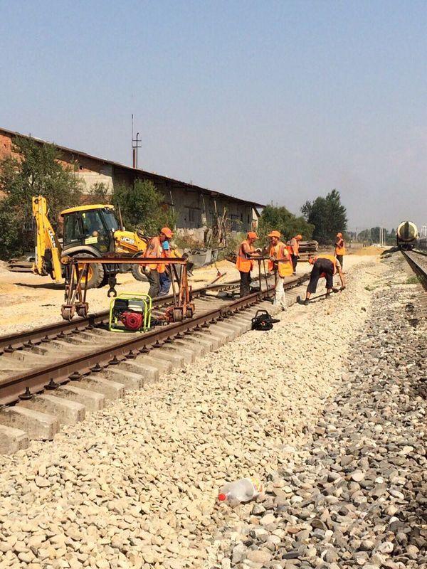 Проектирование и строительство нового подъездного пути протяженностью 505 метров, с врезкой 2-х стрелок. г. Славянск-на-Кубани.
