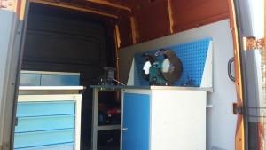 Внутреннее оборудование мобильной станции обслуживания тепловозов